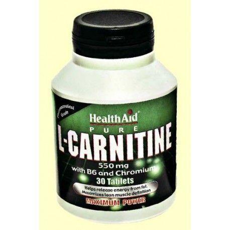 CARNITINA VITAMINA B CROMO HEALTH AID 30 COMPRIMIDOS