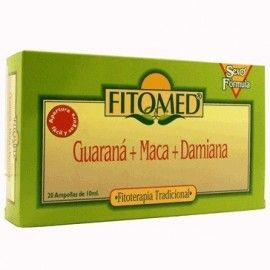 GUARANA MACA DAMIANA VIALES FITOMED 20 AMPOLLAS
