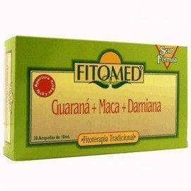 GUARANA MACA DAMIANA VIALES FITOMED 20 AMPOLLAS