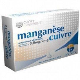 MANGANESO+COBRE FENIOUX 30 COMPRIMIDOS