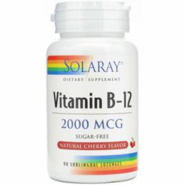 VITAMINA B12 2.000MG SUBLINGULAL SOLARAY 90 CÁPSULAS