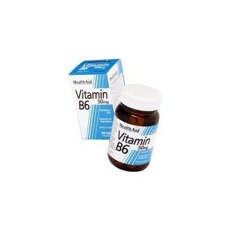 VITAMINA B6 PIRIDOXINA CLORHIDRATO HEALTH AID 100 COMPRIMIDOS