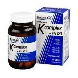 VITAMINA K COMPLEX VITAMINA D3 HEALTH AID 30 COMPRIMIDOS