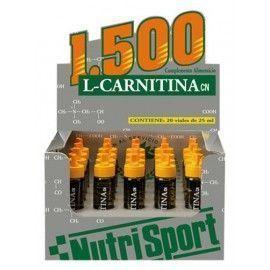 CARNITINA VIALES 1500MG FRESA NUTRI SPORT 24ML