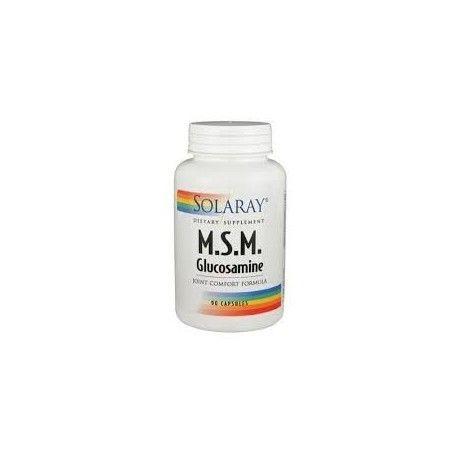 MSM+GLUCOSAMINA SOLARAY 90 CÁPSULAS