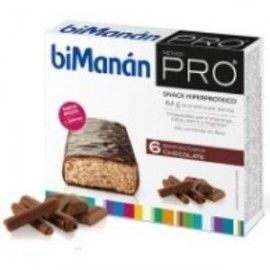 BIMANAN BMN PRO BARRITAS SABOR CHOCOLATE 6BARRITAS