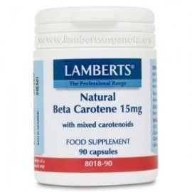 LAMBERTS BETA CAROTENO NATURAL 15 MG. 90 CÁPSULAS