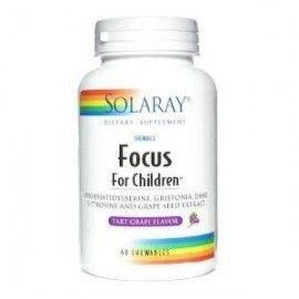 SOLARAY FOCUS FOR CHILDREN 60 COMPRIMIDOS MASTICABLES
