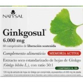 NATYSAL GINKGOSUL (TRASTORNOS CIRCULATORIOS) 60 COMPRIMIDOS