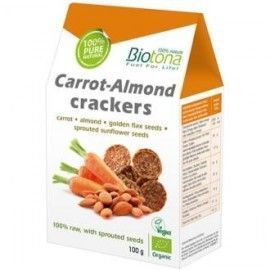 CRACKERS CARROT ALMOND zana-alm 100gr. BIO
