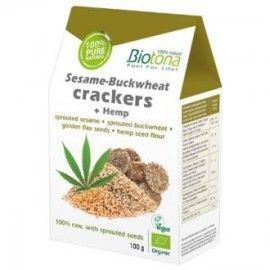 CRACKERS SESAMO-BUCKWHEAT 100gr. BIO