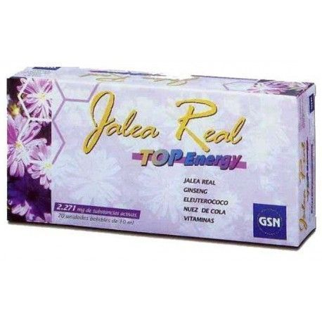 JALEA REAL TOP ENERGY GINSENG G.S.N. 20 VIALES
